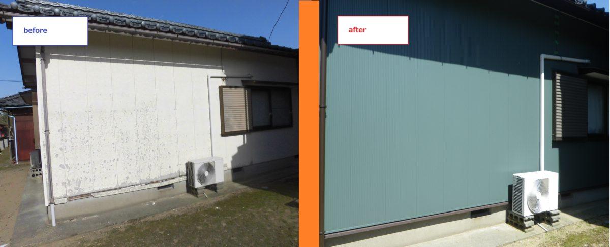 坂井市三国 H様邸6 外壁塗装 金属サイディング ナロースパン柄